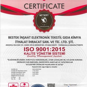 Bestek ISO 9001-2015