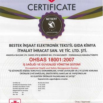 Bestek OHSAS 18001-2007